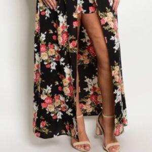 Dresses - Women's 1X 2X 3X Plus Floral Romper Dress Jumpsuit